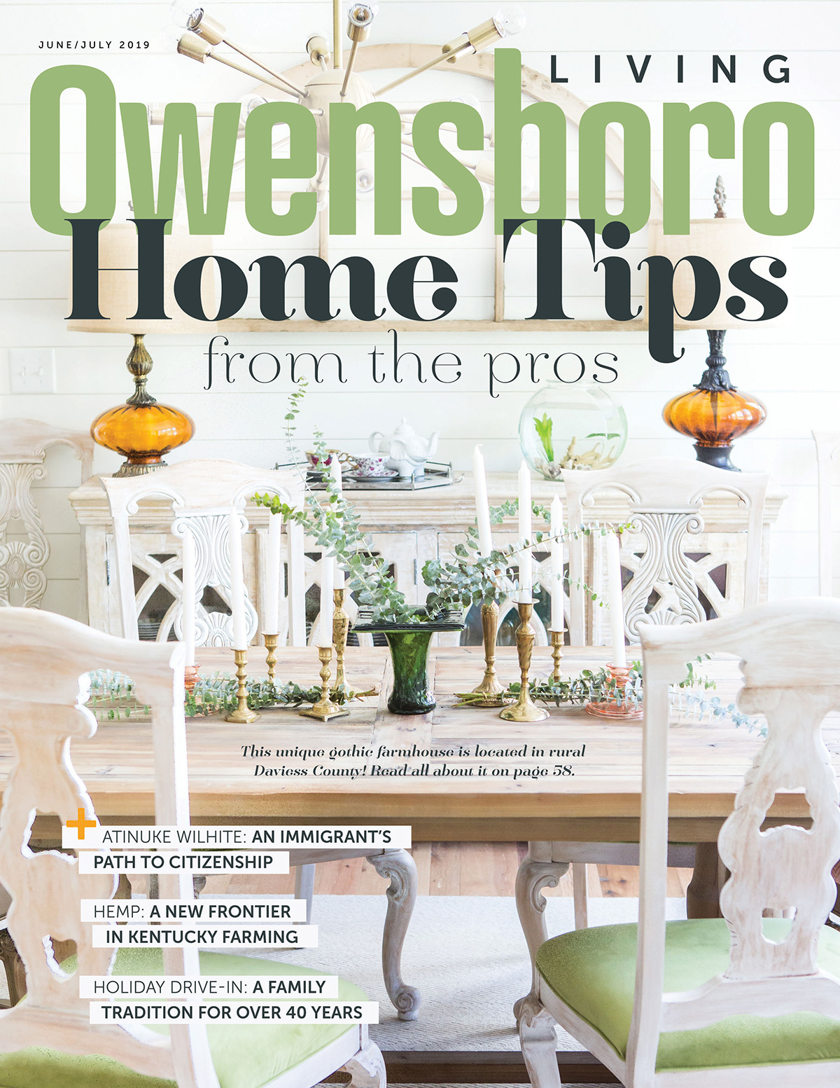 Owensboro Living June/July 2019 Cover